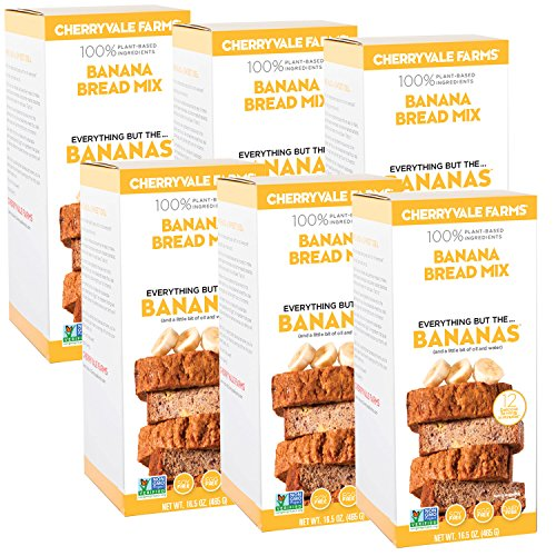 Farm Mix - Cherryvale Farms, Banana Bread Baking Mix, Everything But The Bananas 16.5 oz (pack of 6)
