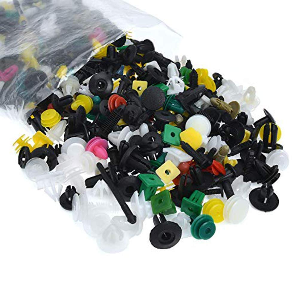 500 Pcs Car Trim Clips Plastic Fasteners Bumper Rivet Universal Auto Fastener Clips with Panel Removal Pry Tool,Car Retainer Clips /& Plastic Fasteners Kit with Fastener Remover