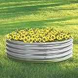 Kotulas Galvanized Steel Round Raised Garden Bed — 4ft. x 12in