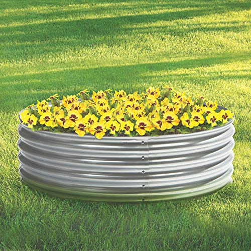 - Kotulas Galvanized Steel Round Raised Garden Bed - 4ft. x 12in