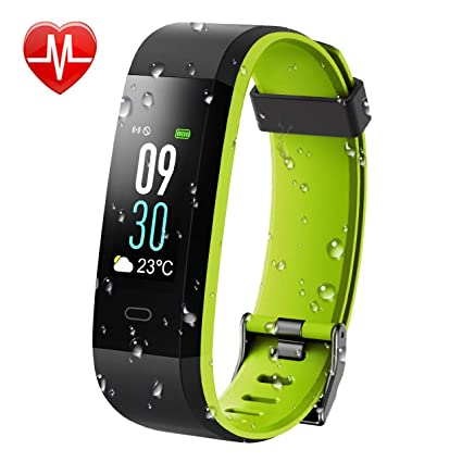 KARSEEN Fitness Tracker, Activity Tracker IP68 Waterproof Fitness Watch  Heart Rate Monitor Colorful OLED Screen Smart Watch with Sleep Monitor Step