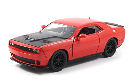 Jada 2015 Dodge Challenger SRT Hellcat 1/24 Scale Diecast Model Car Orange