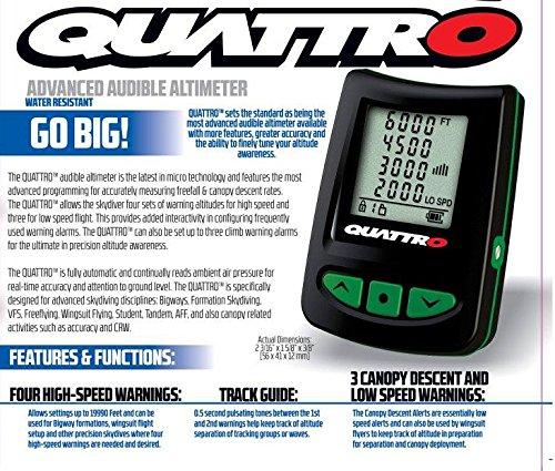 New Quattro parachute skydiving audible altimeter by Quattro