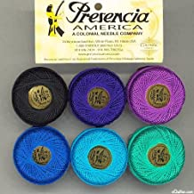 """Presencia Finca Perle Cotton Thread Sampler Pack, Size 5 (10 gram) - for sashiko, embroidery, and quilting - """"MOON GLOW"""" Collection"""