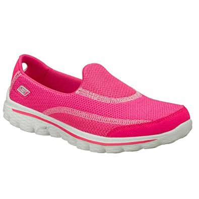 52a911570a5fb Skechers Go Walk 2 - Spark Trainers for Women Pink Size: 8 UK ...