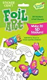 Peaceable Kingdom Sticker Crafts Make My Own Sweet Stuff 3D Foil Art Stickers Kit for Kids