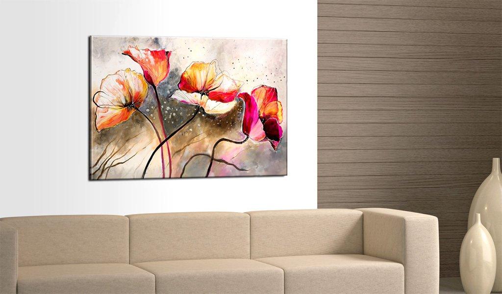 Impression sur toile, tableau de fleurs pas cher deco design
