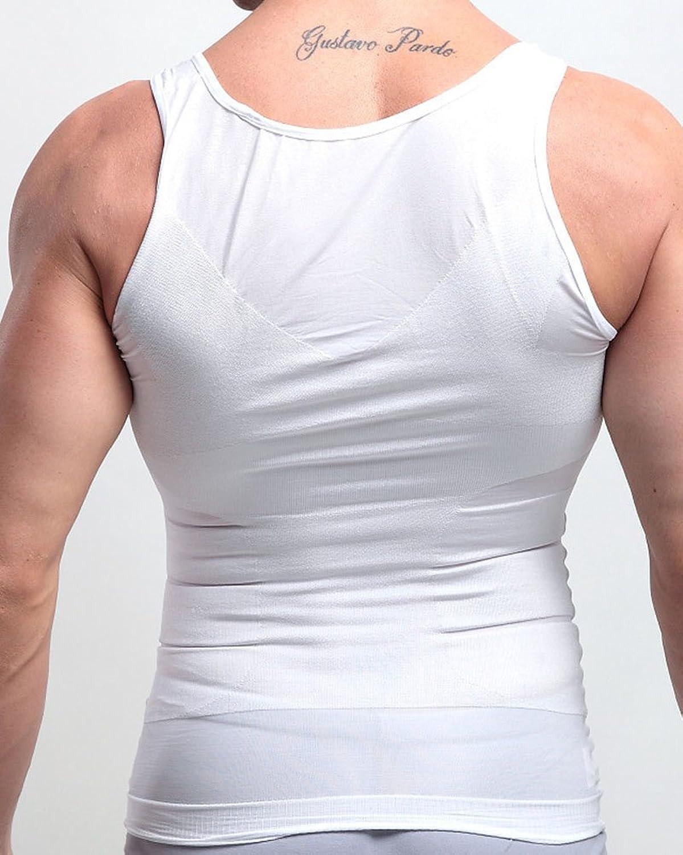 Hombres Elasticidad Fajas Moldeadora Flaco Deportivas Corset Para Adelgazar Chaleco Body Reductor pIVhmrHU