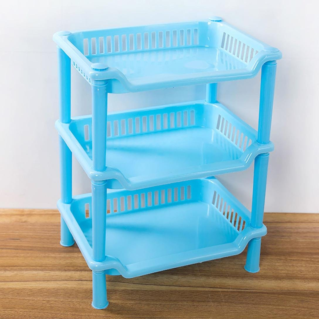 Amazon.com: Sttech1 Living Corner Shower Caddy - 3 Shelf Plastic ...