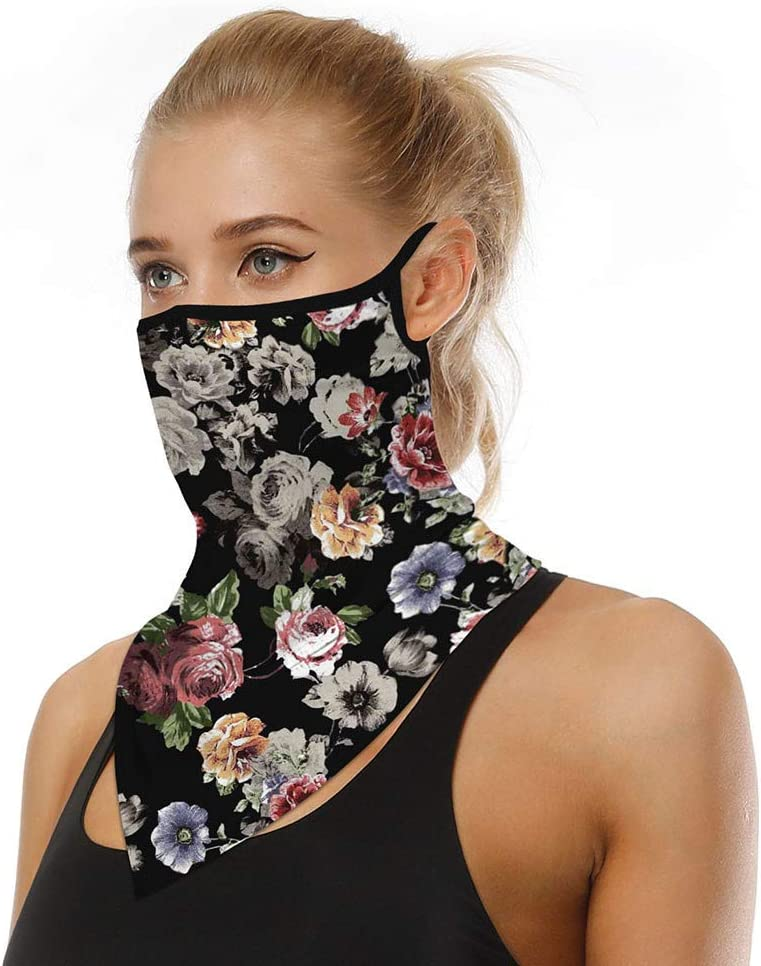 Women Men and Kid Unisex Bandana Reusable Face Mask Washable Scarf Face Rave Balaclava Neck Gaiters Dust Cloth Washable Wind Motorcycle Mask for Dust Cover UV Protection
