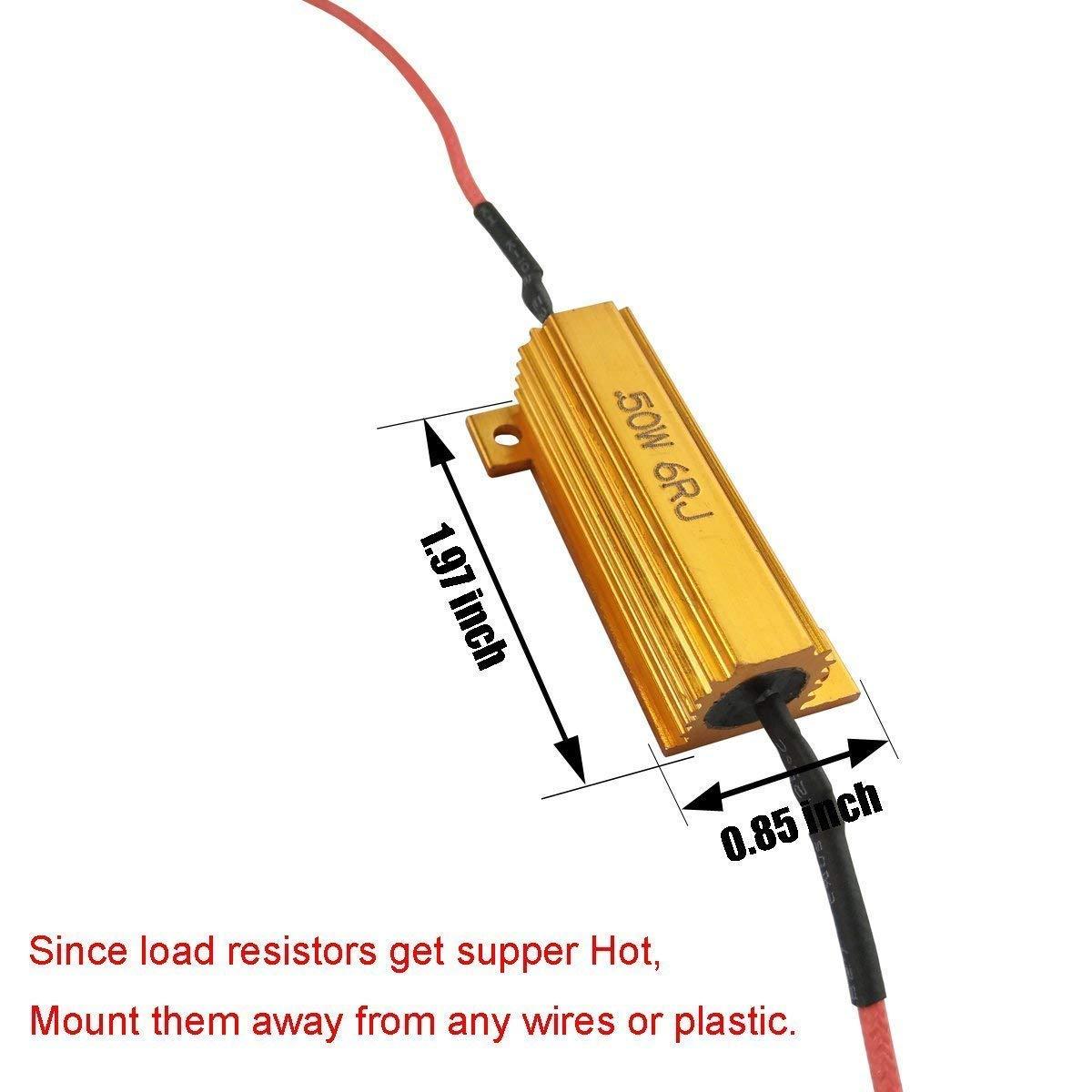 Turn Signal Bulbs iBrightstar 50W 6ohm Load Resistors Fix LED Bulb ...