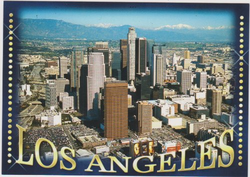 T-693 LOS ANGELES - GREETINGS from Los Angeles Aerial view . .. from Hibiscus Express