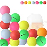 KEVENZ 50 Counts 40mm Beer Ping-Pong Multipul Color Balls, Plastic Table Tennis Ball (Pong Games,Not suitable for practice or tournament)