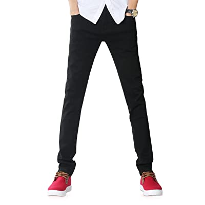 Demon&Hunter 808 Youth Series Men's Skinny Slim Jeans at Men's Clothing store