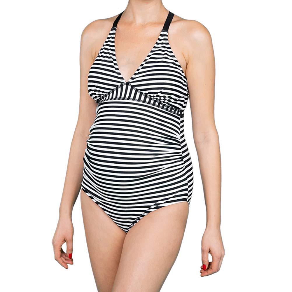 Oceanlily Cross Back Women Swimwear-Pregnancy Swimsuits-Maternity Bathing Suits One Piece