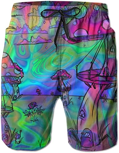 Trippy Psychedelic Tie Dye Boys Beach Pants Board Shorts Running Light and Comfortable Floral Shorts