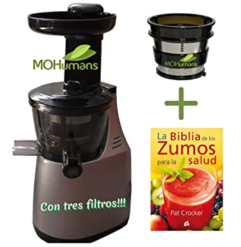 Extractor de zumos MOHumans DY-200 color Plata. 43 rpm. Slow juicer,