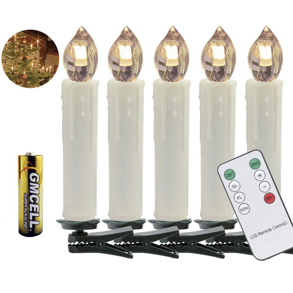 Weihnachtsbeleuchtung Innen Kerzen.Vingo 10er Led Weihnachtskerzen Led Kerzen Mit Batterien