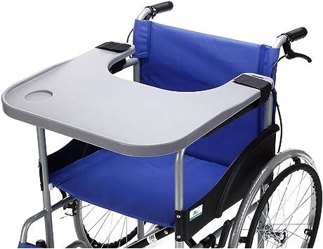 Amazon.com: Bandeja para silla de ruedas con soporte para ...