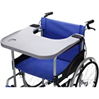 Wheelchair Tray Table with Cup Holder Medical Portable Lap Trays Accessories Child Chair Tray Desk for Eating Snack, Reading (Gray)