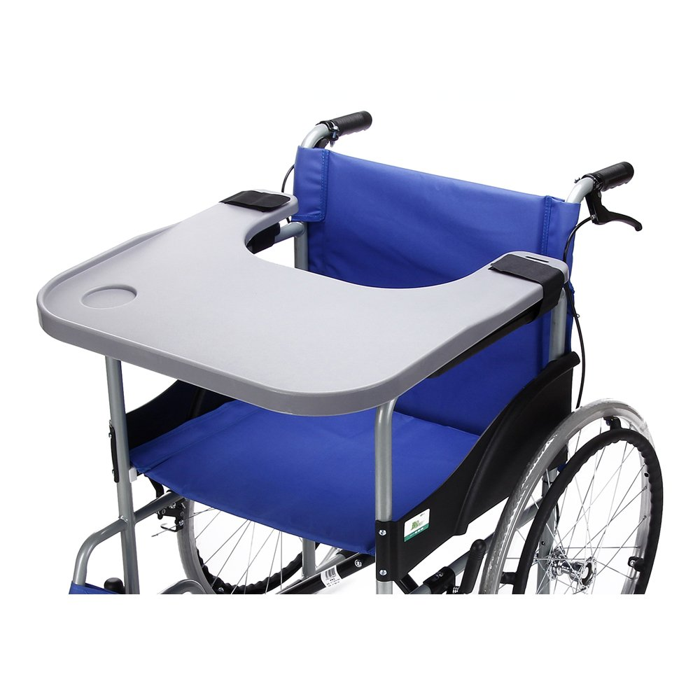 Wheelchair Lap Tray Table Accessories with Cup Holder Medical Portable Child Chair Universal Trays Desk Fit for Manual Powered or Electric Wheelchairs (Size:52 * 58CM for 16-20 Inch Wheelchairs) by NEPPT