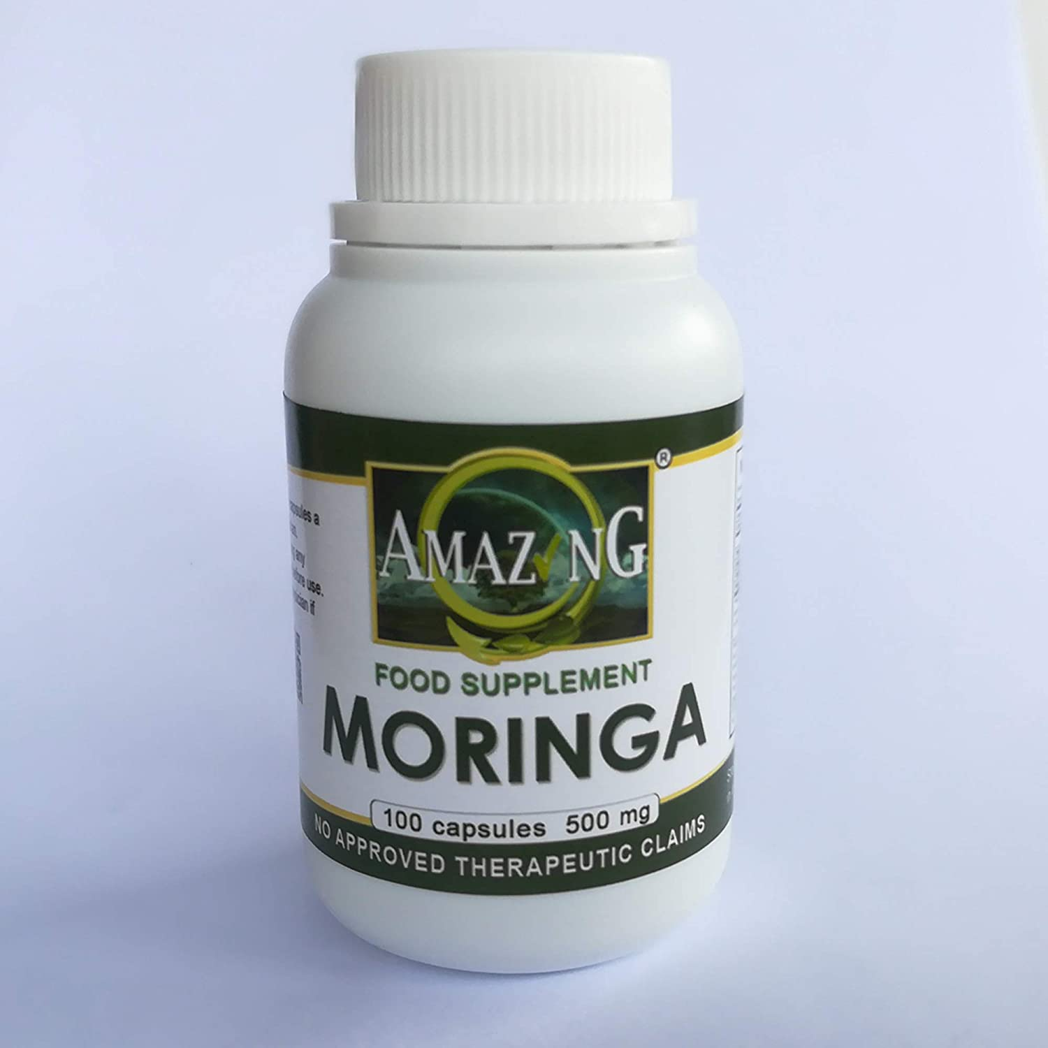 Moringa 500mg Amazing Food Supplements (100 Capsules)