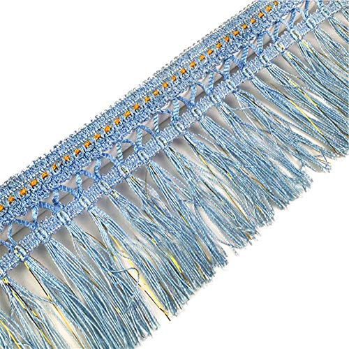 Wildgirl Drape Curtain Trimming Sofa Table Skirt Decorative Braid Tassel 13 Yards (Lake -