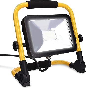 kwmobile Proyector LED para construcción de 20W 2000 lúmenes ...