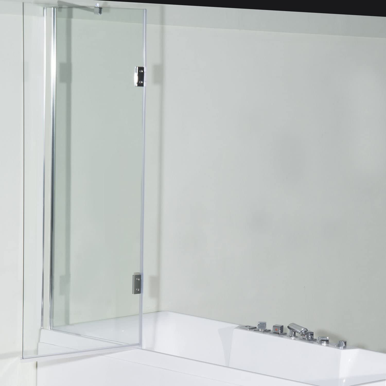 HOMCOM Mampara Ducha Cristal Templado 140x106cm Pantalla Ducha ...