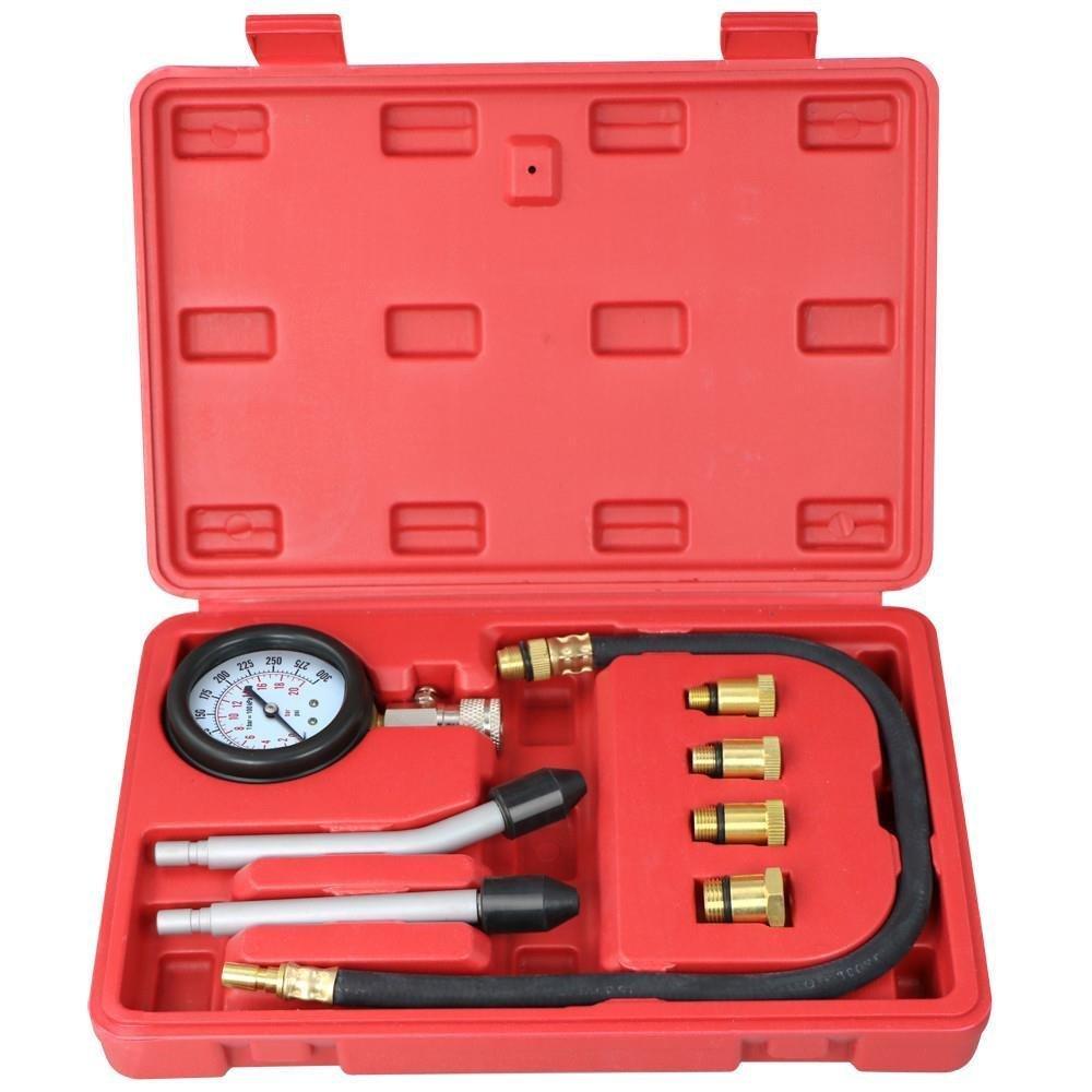 Yahee 9 tlg Kompressionstester Kompressionsprü fer Kompressionsmesser Kfz 0-20 bar oder 0-300 psi