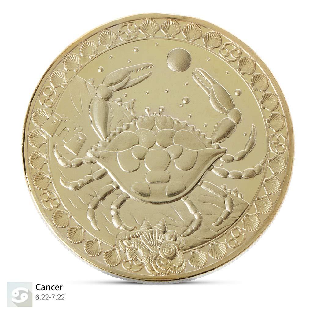 Burane Jin Europa y Am/érica Doce Constelaciones Moneda Antigua Plata Moneda Tarot Deseos Sol Dios Conmemorativo Colecci/ón de Monedas Regalo