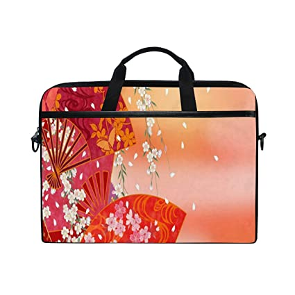 b3fa1b507f00 Amazon.com: Japanese Floral Fan 14 15inch Laptop Case Laptop ...