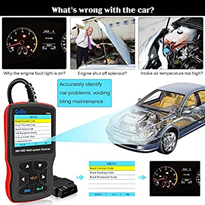 OBD OBDII Code Scanner Full System Check ABS//SRS//DSC//Engine//EPS//Auto Transmission//Air Condition//Instrument Diagnostic Scan Tool CREATOR Latest V8.0 C310