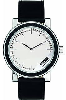 amazon com moschino mens fashion dress analog casual quartz watch moschino mens mr label analog casual quartz watch nwt mw0265
