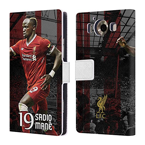 Official Liverpool Football Club Sadio Mané 2017/18 First Team Group 1 Leather Book Wallet Case Cover For Microsoft Lumia 950