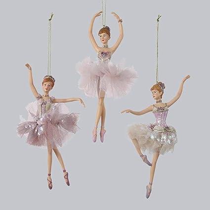 kurt adler 3 ballerina christmas ornament set