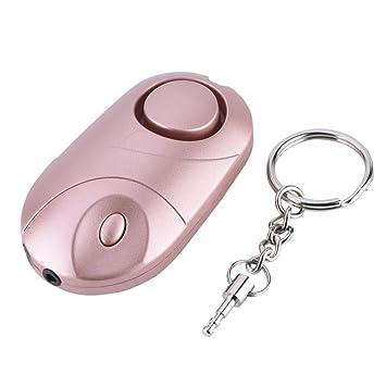 Acogedor Seguridad Violación Ataque 130dB Alarma, Alarmas personales de Emergencia Sirena con luz LED, Defensa Personal Llavero para Mujeres Niños ...
