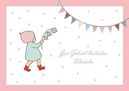 Tarjeta de felicitación para nacimiento de una niña (tarjeta ...