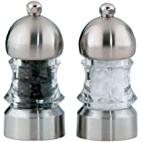 "Chef Specialties 3.5"" Metro Pepper Mill and Salt Mill Set, Clear"