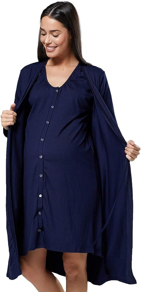 Para Mujer Camis/ón para el Parto Hospital Premam/á Lactancia HAPPY MAMA 097p