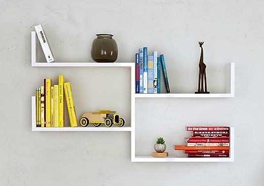 Fresh Mensola Da Muro Mensola Parete Mensola Libreria Scaffale Pensile Per Studio Soggiorno In Design Moderno Bianco