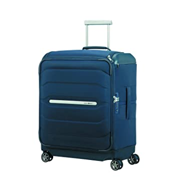 SAMSONITE Flux Soft - Spinner 56/20 w/Top Pocket Equipaje de Mano, 56 cm, 57.5 Liters, Azul (Navy Blue): Amazon.es: Equipaje