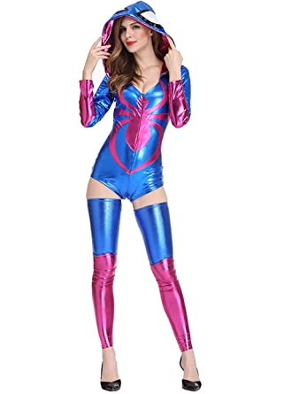 Amazon.com: Sexy disfraz de araña – Halloween Spider Bodycon ...
