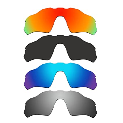 ddbc92724e Image Unavailable. Image not available for. Color  ACOMPATIBLE 4 Pair  Replacement Polarized Vented Lenses for Oakley Radar EV XS Path ...