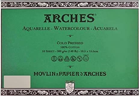 Canson Arches 100% algodón Watercolor postal papel, papel para ...