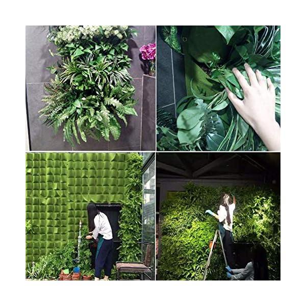Tasche per Coltivazione, Tasche per Piante, Orto da Parete Verticale Giardino Vivente Beauty Planting Bag Colture per… 4 spesavip