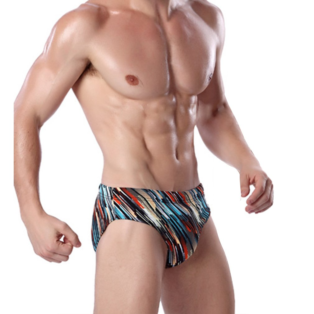 Honghu Men's Beach Sports Swimsuit Briefs Trunks Swimwear ZH3707S001