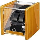 JQUEEN Automatic Watch Winder - Bamboo Wood Watch Winder Box with Quiet Mabuchi Motor