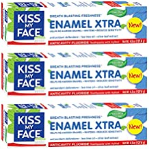 Kiss My Face Signature Bundles Extra Gel Toothpaste & Enamel,4.5 oz ,3 Count