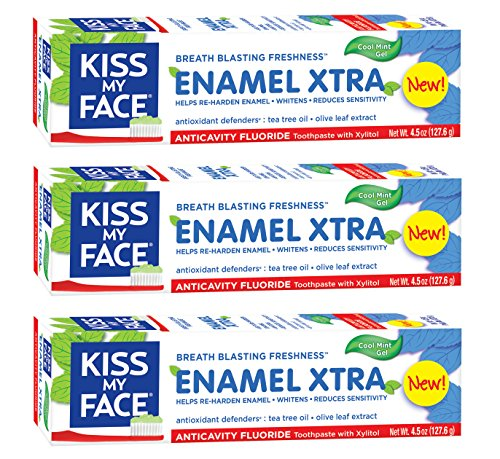 Toothpaste Face (Kiss My Face Signature Bundles Extra Gel Toothpaste & Enamel,4.5 oz,3 Count)